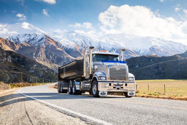Mack Trucks Trident on mountain side